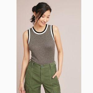 ANTHROPOLOGIE Valeria Shine Sweater Tank Size S